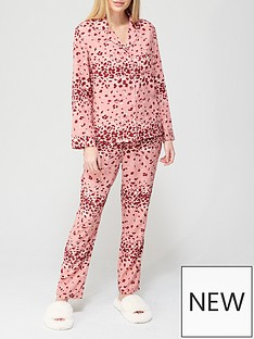 v-by-very-animalnbspbutton-through-woven-mothers-daynbsppyjamas-animal-print
