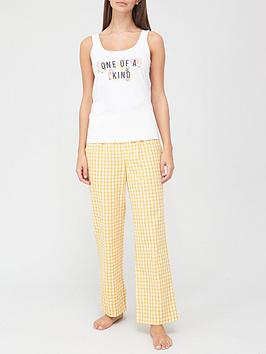 v-by-very-one-of-a-kind-amp-woven-gingham-pyjamas-print