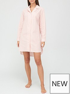 v-by-very-button-through-nightdress-stripe