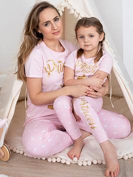 v by very ladies disney princess family pyjamas - pink