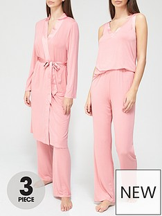 v-by-very-3-piece-pyjamas-and-robe-mothers-daynbspgift-set-pink