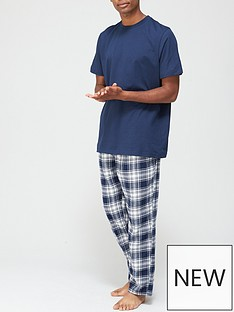 very-man-check-bottom-pj-setnbsp--navy