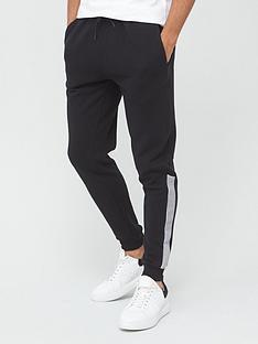 very-man-dogtooth-panel-jogger-black