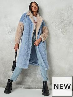 missguided-colourblock-longline-fur