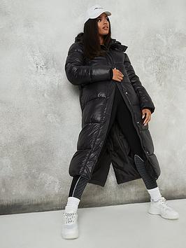missguided-missguidednbspmaxi-hooded-shine-padded-jacket-black