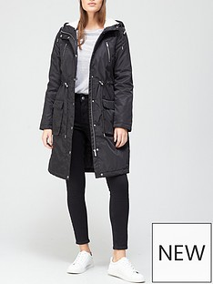 v-by-very-long-fleece-lined-windcheater-black