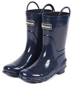 barbour-kids-durham-pull-on-wellington-boot-navy