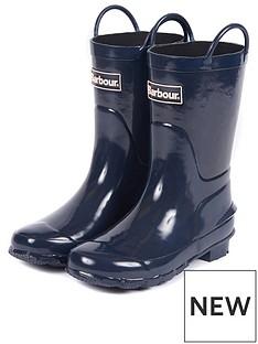 barbour-kids-durham-pull-on-wellington-boot-navy