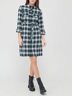 v-by-very-check-flannel-shirt-dress-greennbspcheck