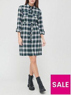 v-by-very-check-flannel-shirt-dress-greennbspcheck