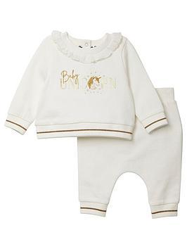 river-island-baby-baby-girls-unicorn-sweat-set-cream