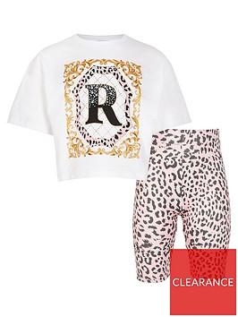river-island-girls-leopard-t-shirtnbspand-legging-set--nbspwhitenbsp