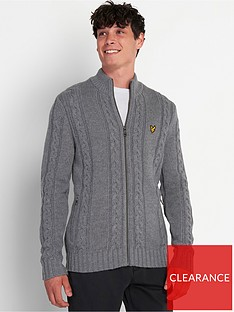 lyle-scott-heavy-cable-knit-crew-neck-grey-marl