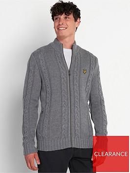 lyle-scott-heavy-cable-knit-crew-neck-grey-marl