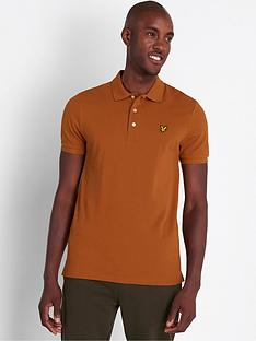 lyle-scott-plain-polo-shirt-caramel