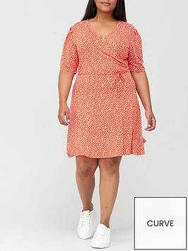 v-by-very-curve-wrap-printed-dress-red-print