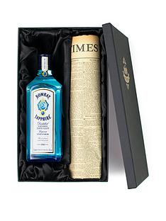 bombay-sapphire-gin-and-original-newspaper-gift