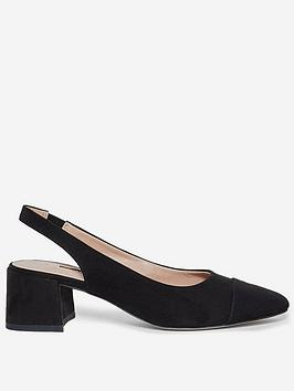 dorothy perkins eli court shoes - black