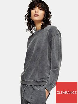 topshop-acid-wash-sweatshirt-charcoal