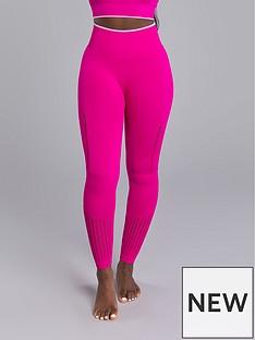 boux-avenue-jacquard-textured-legging-pink