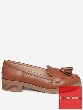 dorothy-perkins-wide-fit-litty-loafers-tan