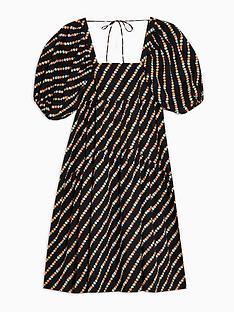 topshop-tiered-poplin-midi-dress--nbspblack