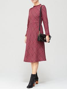 lk-bennett-katie-check-wool-bias-cut-dress-pink