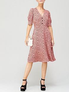 lk-bennett-daphne-rope-print-crystal-button-crepe-dress-pink