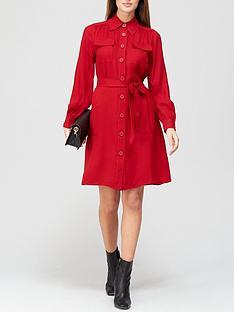 lk-bennett-miller-crepe-shirt-dress-red