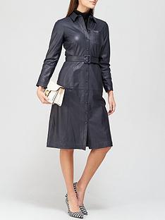 lk-bennett-gaia-leather-shirt-dress-navy
