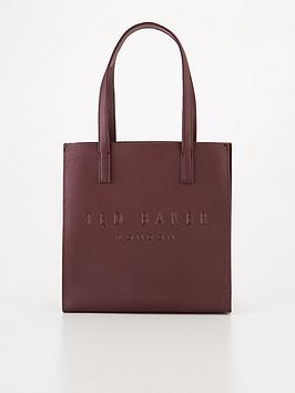 ted-baker-crosshatch-small-icon-bag-maroon