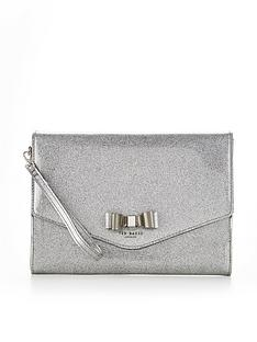 ted-baker-bow-glitter-pouch-silvernbsp