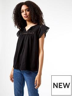 dorothy-perkins-victoriana-cotton-top-blacknbsp