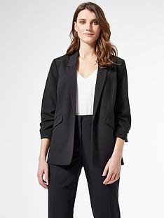 dorothy-perkins-ruched-sleeve-jacket-black