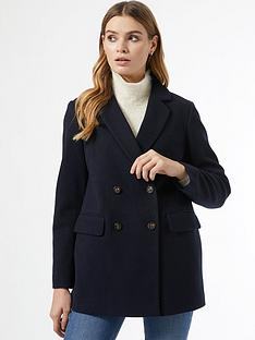 dorothy-perkins-double-breasted-marlnbspblazernbspcoat-navy