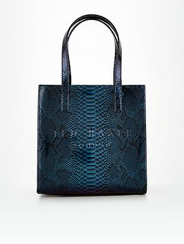 ted-baker-holographic-imitation-snake-small-icon-bag-blue