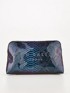 ted-baker-holographic-snake-effect-washbag-blue