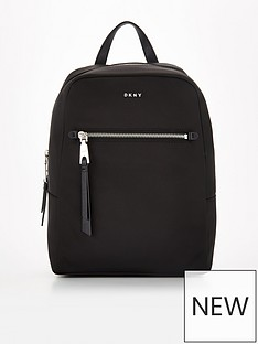 dkny-gia-nylon-backpack-black