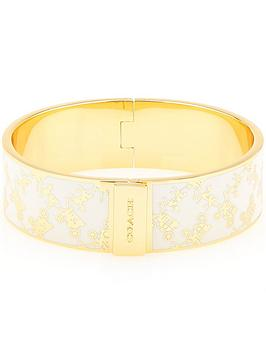 coach-horse-and-carriage-enamel-inlay-hinged-bangle-gold