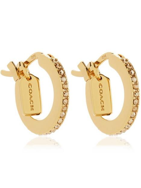 coach-pave-huggie-earrings-gold