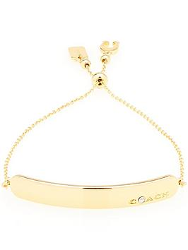 coach-bar-slider-bracelet-gold
