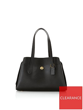 coach-lora-mixed-leather-shoulder-bag-black