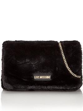 love-moschino-faux-fur-cross-body-bag-black