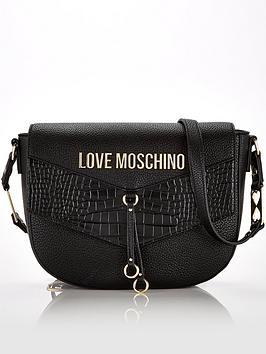 love-moschino-mixed-texture-cross-body-saddle-bag-black