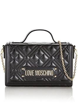 love-moschino-top-handle-quilted-cross-body-bag-black