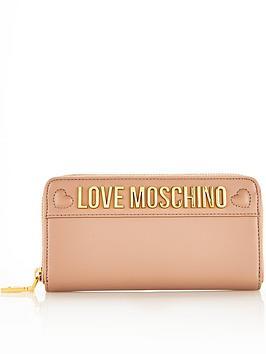 love-moschino-logo-continental-purse-taupe