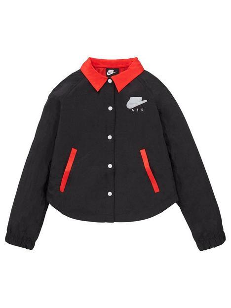 nike-girls-nsw-air-coach-jacket-black-red