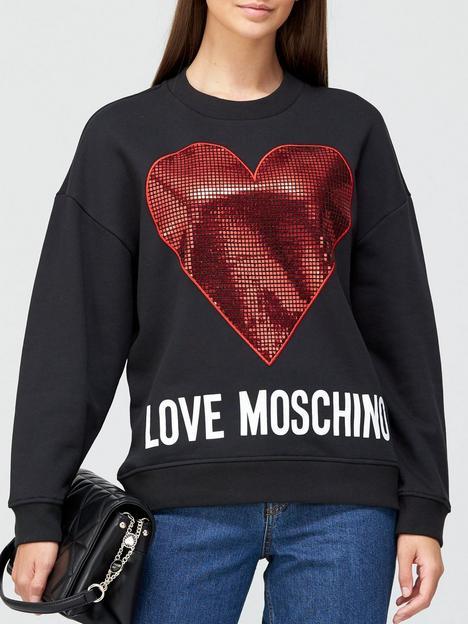love-moschino-metallic-heart-sweatshirt-black