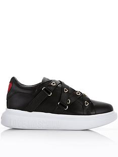 love-moschino-heart-eyelet-chunky-sole-trainers-black