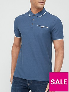ted-baker-chorus-tipped-collar-waffle-polo-shirt-mid-bluenbsp